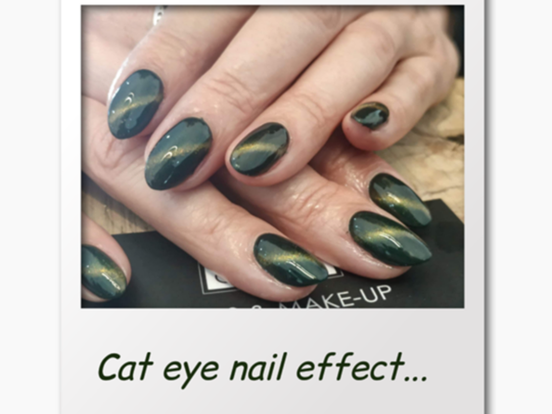 Cat eye nail effect...